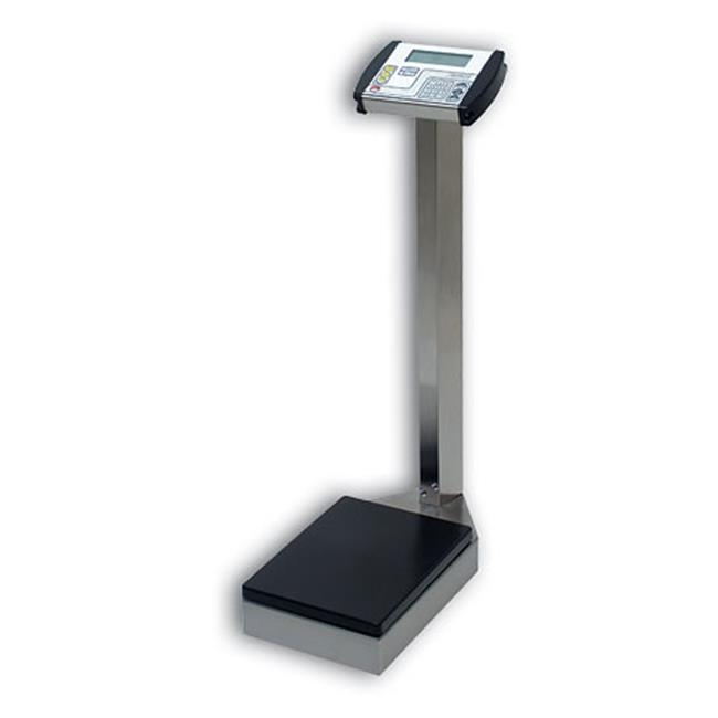 Cardinal Scale-Detecto 8430S 10. 5 inch X 14. 5 inch Platform Waist High Physician Scale Digital Stainless Steel 400 Lb X . 2