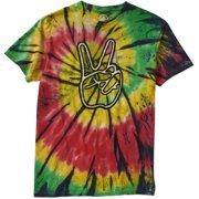 Peace and Tie Dye Big Men's Graphic Tee