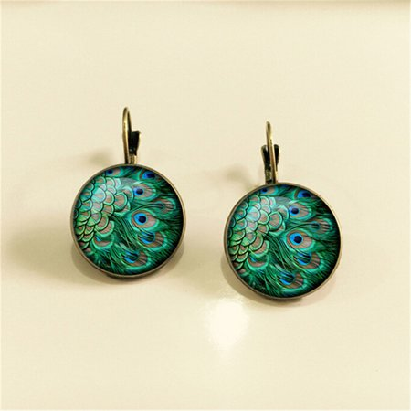 AIHOME Paired Exquisite and Retro Time Jewel Earrings Fashion Multiple Patterns Earrings - image 5 de 6