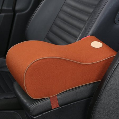 Universal Car Armrest Seat Center Console Cover Cushion Arm Rest Support Pillow Box Pad Black