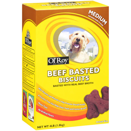 Ol' Roy Beef Basted Biscuits Dog Treats, 4 lb