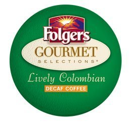 Folgers GOURMET SELECTIONS LIVELY COLOMBIAN DECAF K CUP C...
