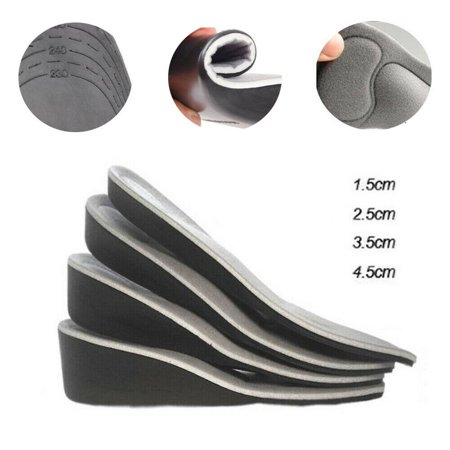 Men Women Invisible Heel Lift Taller Shoe Inserts Height Increase Insoles