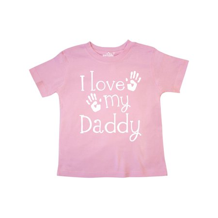 484c4448 Inktastic - I Love My Daddy Fathers Day Toddler T-Shirt - Walmart.com