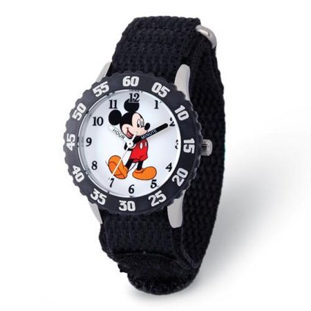Disney Kids Mickey Mouse with Moving Arms Time Teacher Watch