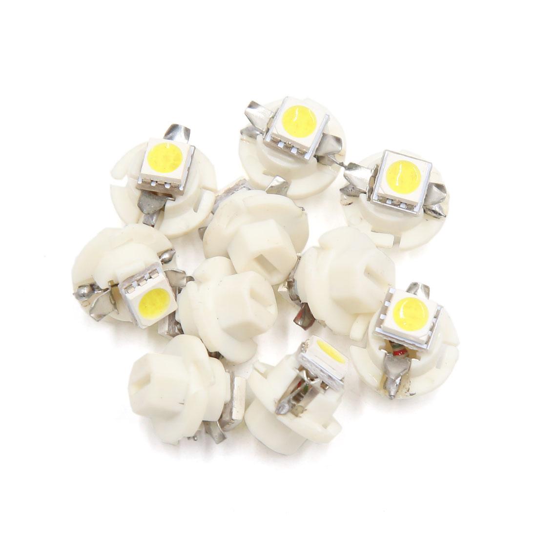 10 Pcs B8.4 White 5050  Auto Car Interior Dashboard Dash Gauge Lights Bulb