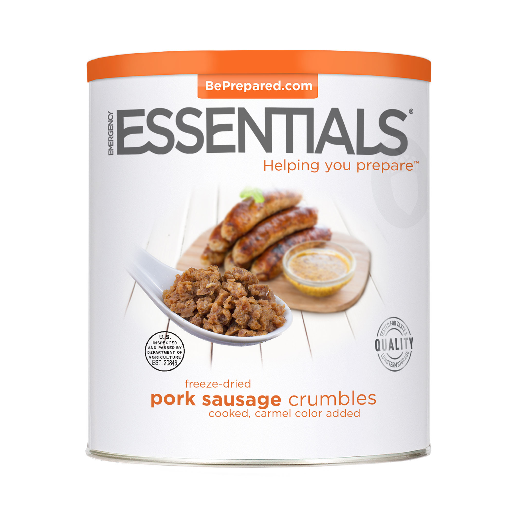 FD Pork Sausage Crumbles #10 Can by Emergency Essentials