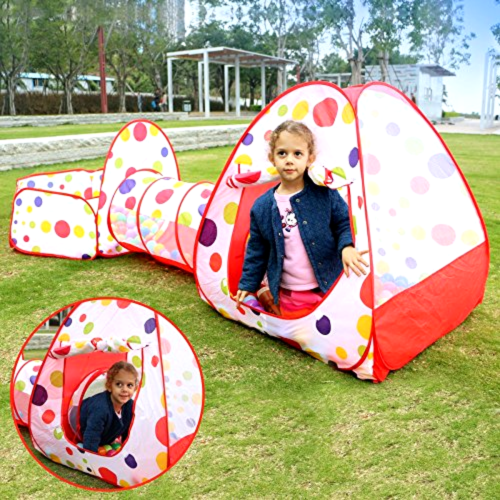 New 3 In 1 Kids Pop Up Play House Tents Tunnel And Ball Pit Playhouse Kids Gifts