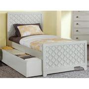 My Home Furnishings Amanda- Bright White 1302-311113343 Twin Panel Bed