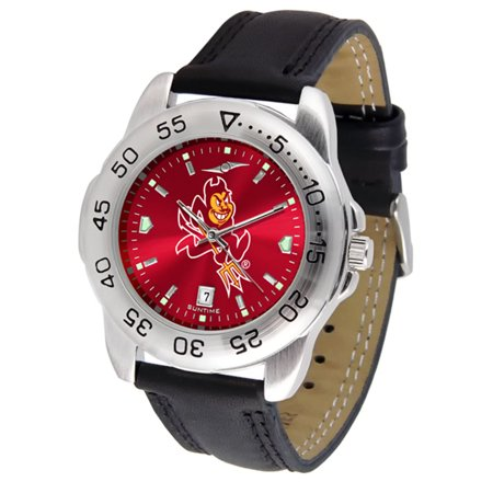 "Arizona State Sun Devils NCAA AnoChrome ""Sport"" Mens Watch (Leather Band)"