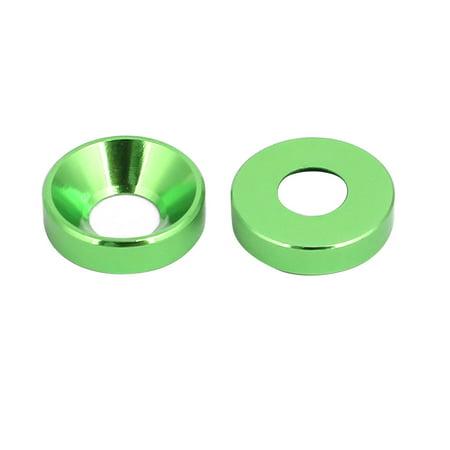 M4 tête coupe alliage aluminium moteur lave-glace bouclier aile vert 10pcs - image 1 de 2