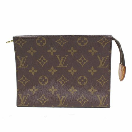 6124ff0a359d Louis Vuitton - Poche Monogram Toiletry Pouch 19 Toilette 868463 Brown  Coated Canvas Clutch - Walmart.com