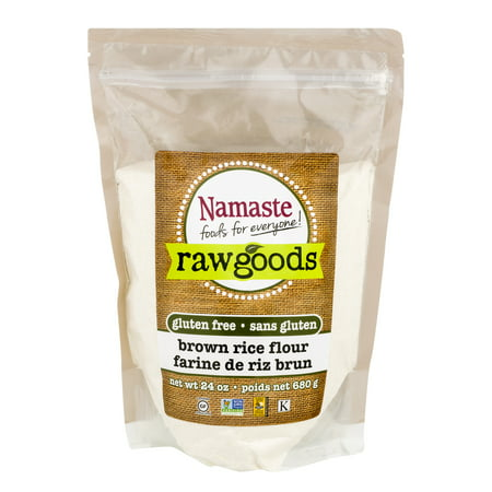 (2 Pack) Namaste Foods Raw Goods Gluten Free Brown Rice Flour, 24 oz (Brown Rice Flour Free Shipping)