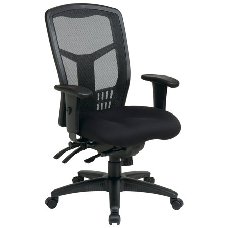 Office Star Products Pro Line Ii Progrid Black Breathable Fixed Back Chair