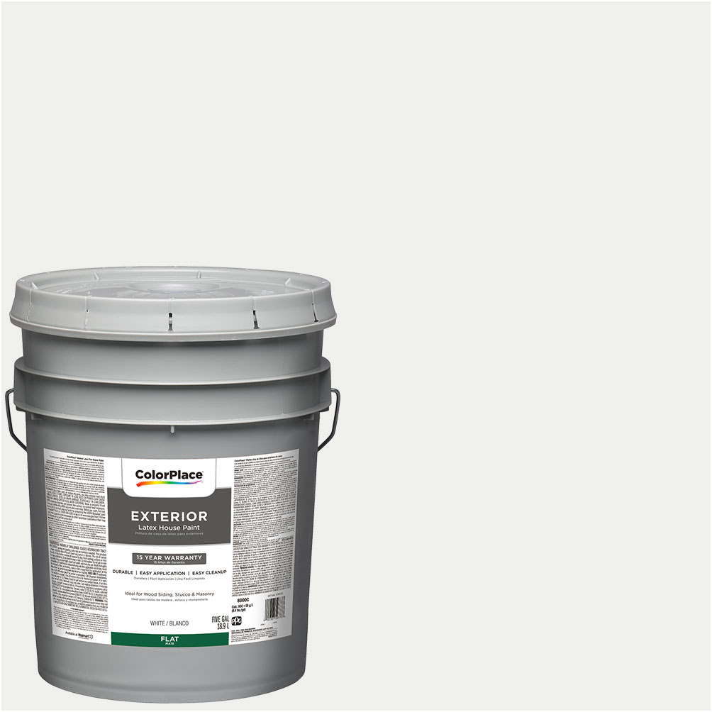 white colorplace exterior paint flat finish 5 gallon walmart inventory checker brickseek. Black Bedroom Furniture Sets. Home Design Ideas