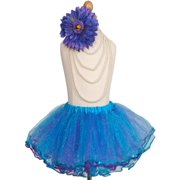 Efavormart Mysterious Aqua and Purple Girls Ballet Tutu Skirt for Dance Performance Events Wedding Party Banquet Event Dance Skirt