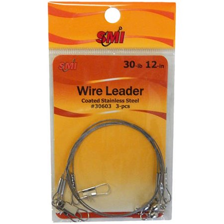 "Beau Mac Wire Leader, 30 lb, 12"", 3-Pack"