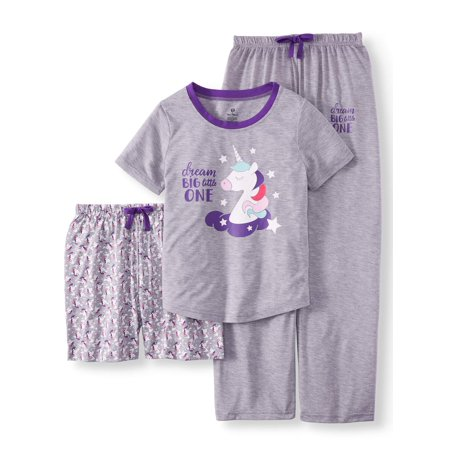 Best Girls Pajamas (Girls' 3 Piece Pajama Sleep Set (Little Girl & Big)