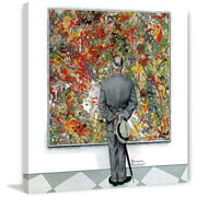 """Marmont Hill """"Art Connoisseur"""" by Norman Rockwell Painting Print on Canvas"""