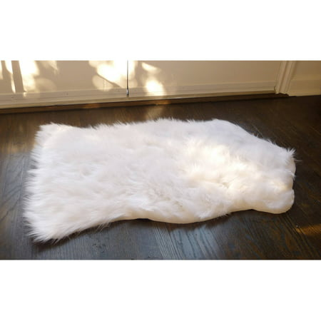 Home dynamix faux sheepskin fur rug white walmartcom for Fur rugs