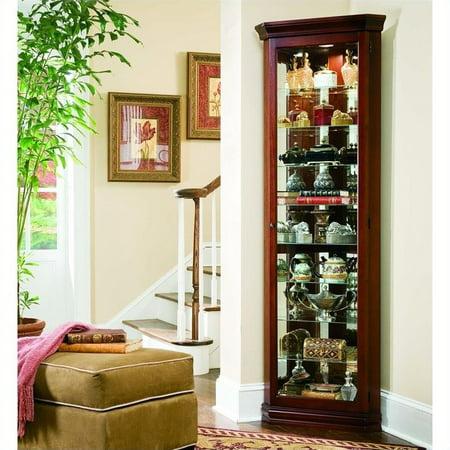 Beaumont Lane 8 Shelf Corner Cabinet in Victorian - Victorian Style Oval Cherry