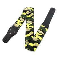 Bass Belt Adjustable Electric Guitar Strap Camouflage Green 95-150cm Length