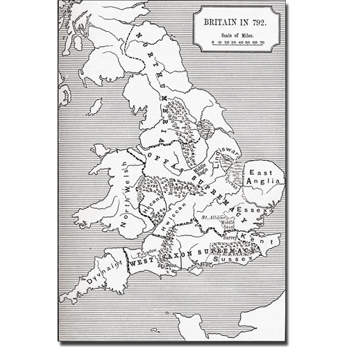 Trademark Art 'Map of Britain in 792' Canvas Art