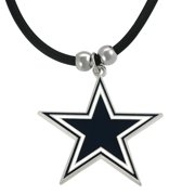 KNS Silvertone NFL Team Cord Necklace