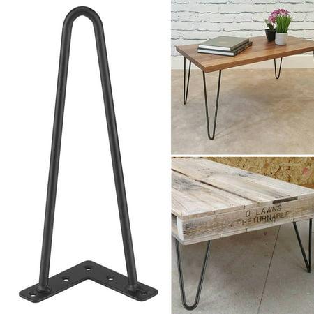 Hairpin Metal Table Leg 4pcs 2 Rods Iron Desk