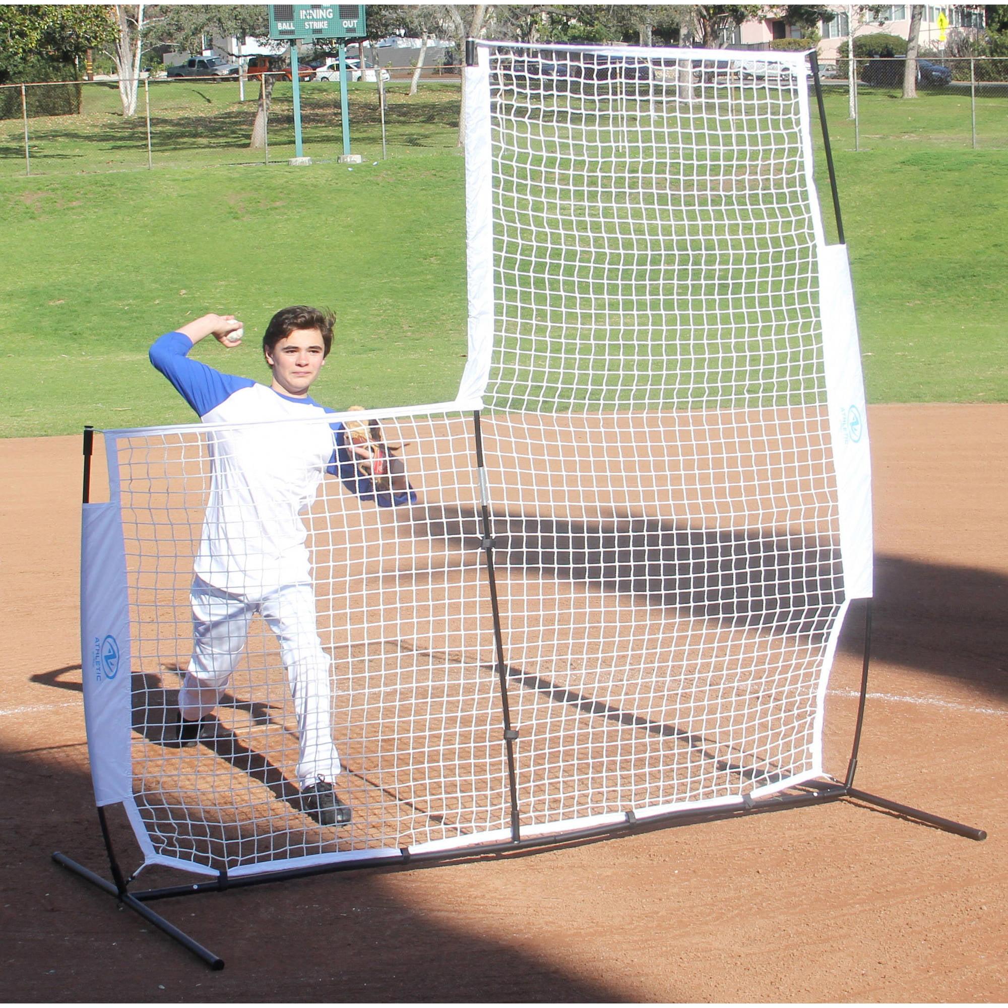 Athletic Works 7' Baseball L-Screen Training Net
