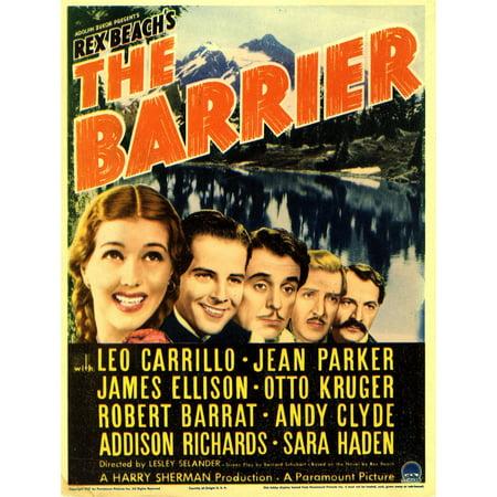 The Barrier Far Left Jean Parker Leo Carillo On Midget Window Card 1937 Movie Poster