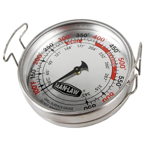"Man Law  Large 3.2"" Grill Surface Thermometer"