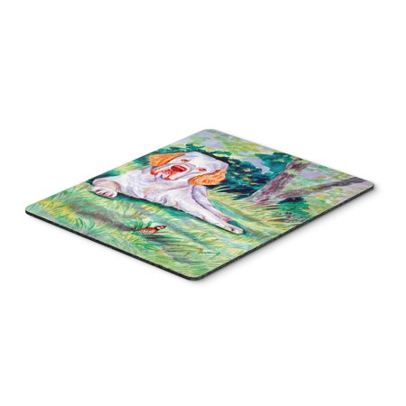 Clumber Spaniel Mouse Pad / Hot Pad / Trivet