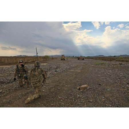 Canvas Print Explore Reconnoiter Uniform Soldier Scout Patrol Stretched Canvas 10 x 14