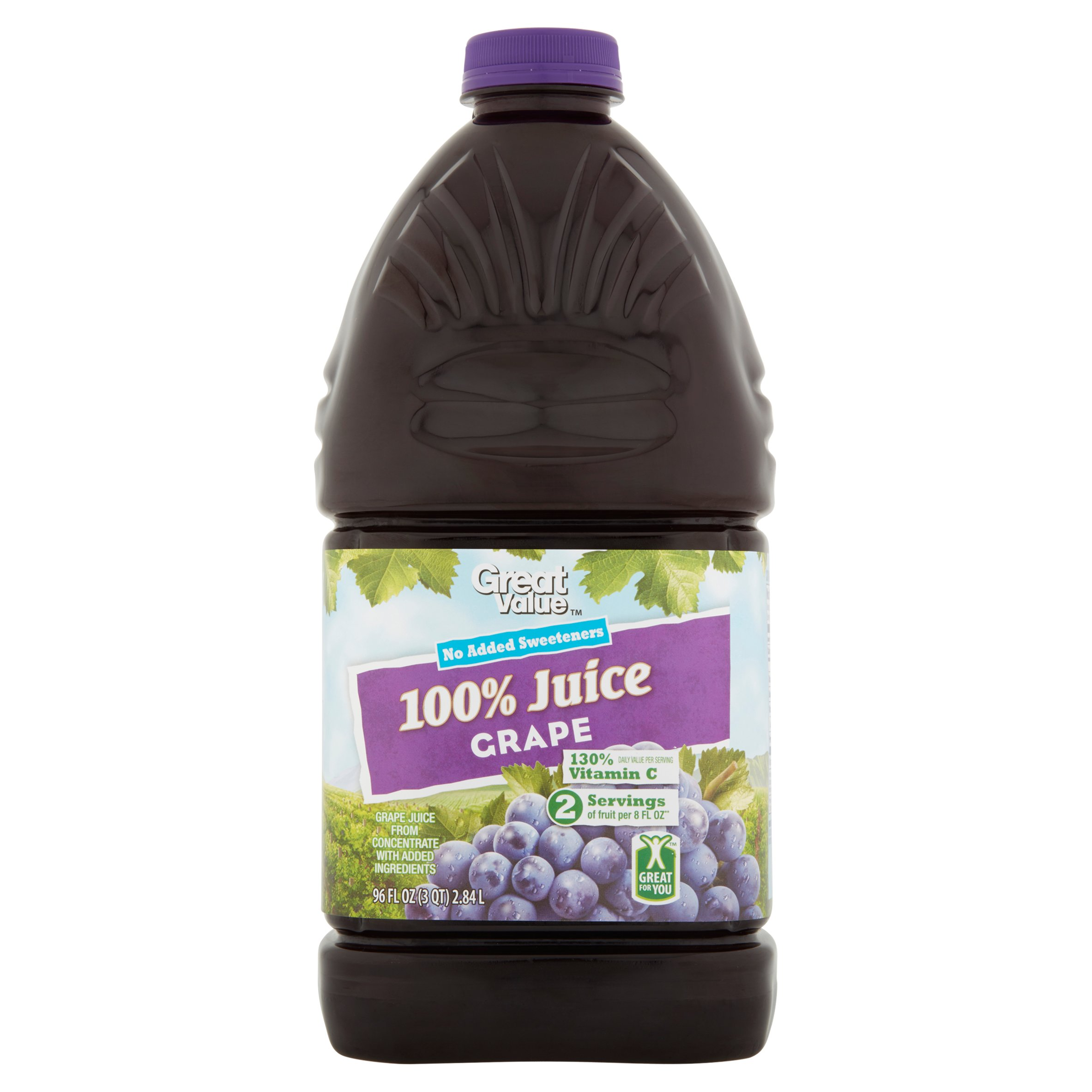 Great Value 100% Grape Juice, 96 fl oz by Wal-Mart Stores, Inc.