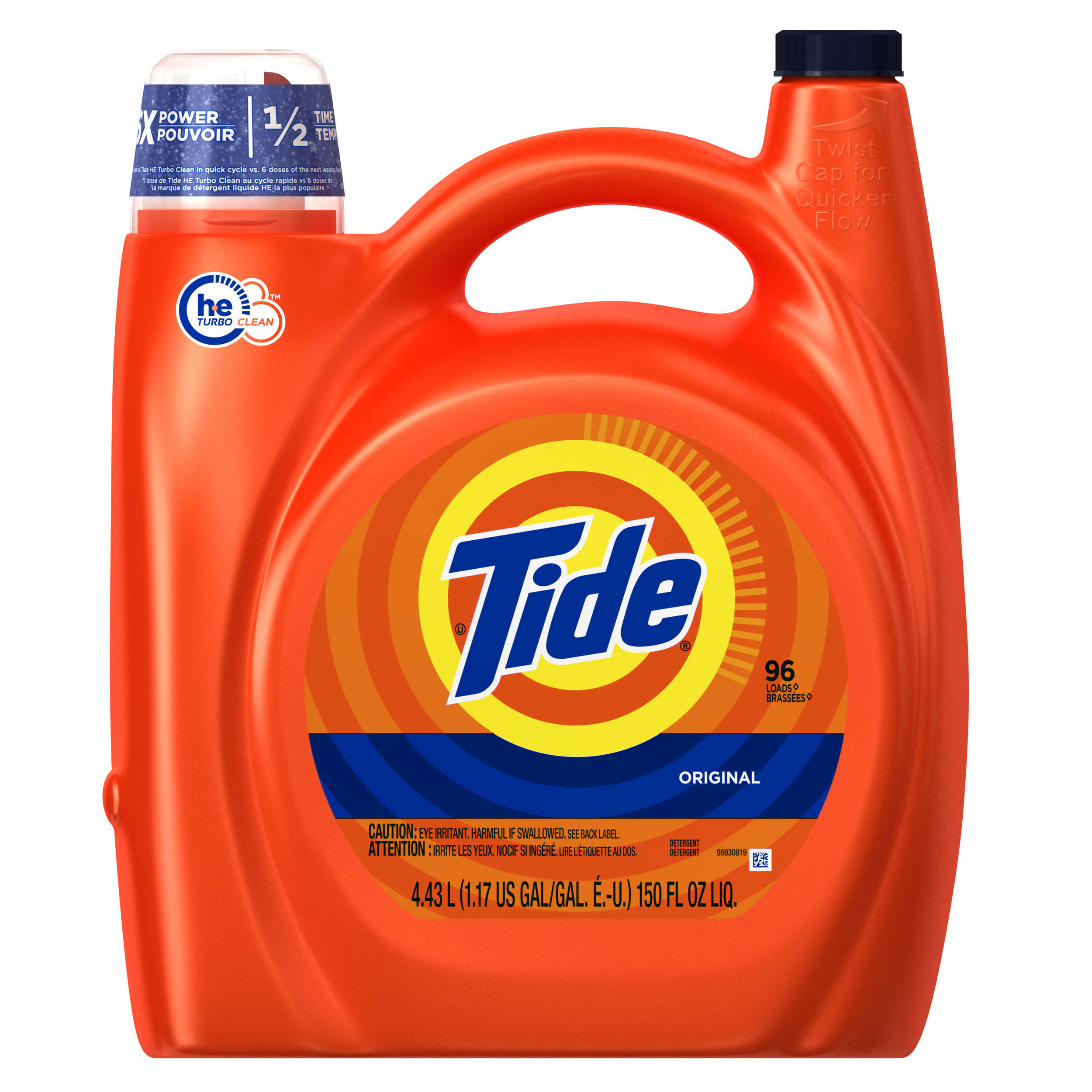 How Much He Detergent To Use Tide He Turbo Clean Original Scent Liquid Laundry Detergent 96
