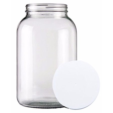 One Gallon Wide Mouth Glass Jar With Lid
