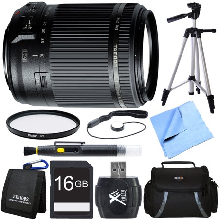 Tamron 18-200mm Di II VC All-In-One Zoom Lens for Canon Mount 16GB Card Bundle