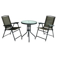 Three Piece Folding Chair and Table Set