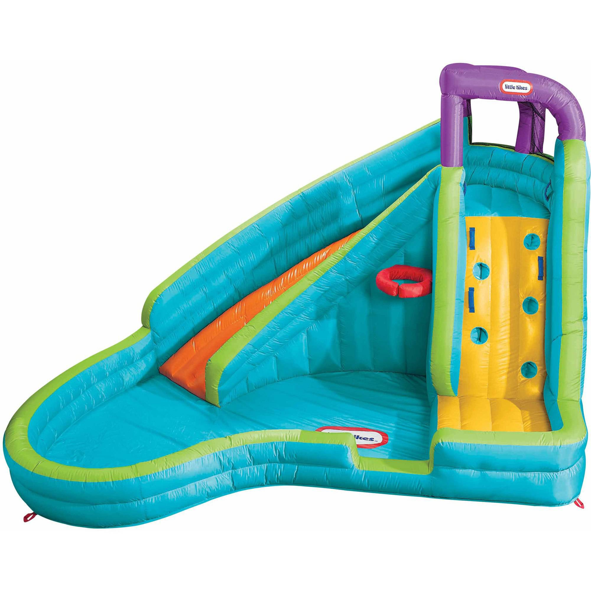 Inflatable Water Slide little tikes slam 'n curve inflatable water slide - walmart