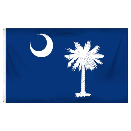 South Carolina Large Flag (South Carolina 3ft x 5ft Printed Polyester Flag )
