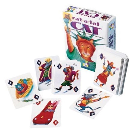 Rat-A-Tat-Cat, Children's card game that helps develop timing and basic mathematical concepts By Gamewright - Halloween Rat Games