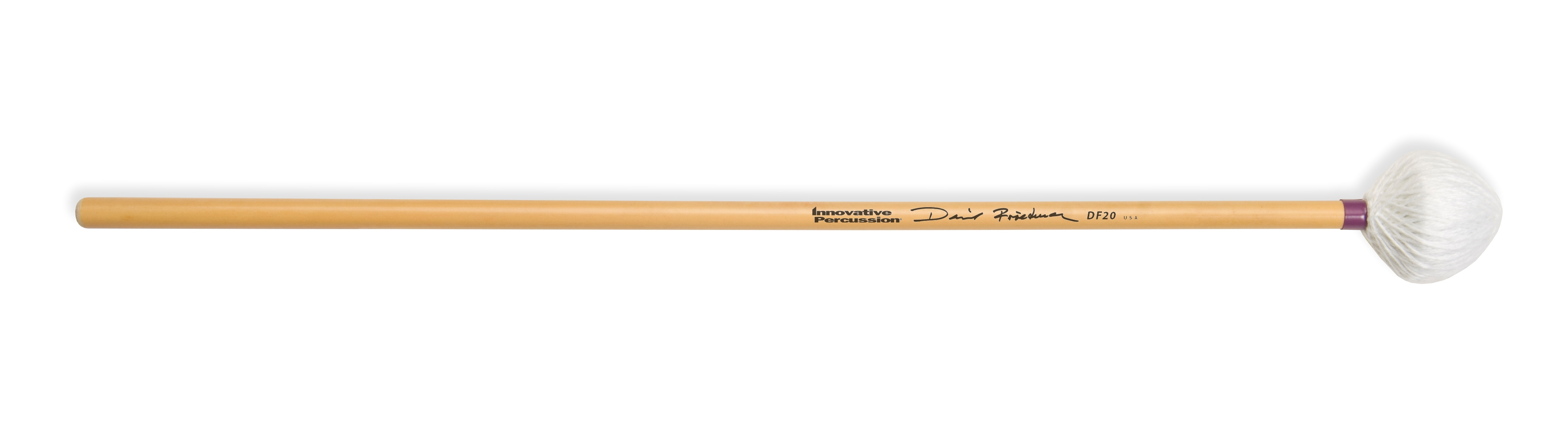 Innovative Percussion DF20 David Friedman Soft Marimba Mallets with Rattan Handles by Innovative Percussion
