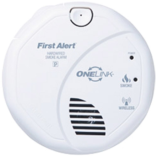 First Alert SA9120BPCN 120V AC Hardwired Smoke Alarm with Adapter