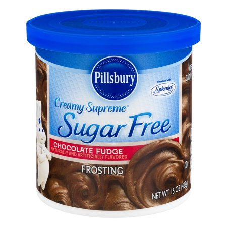 (4 Pack) Pillsbury Creamy Supreme Sugar Free Chocolate Fudge Frosting, 15