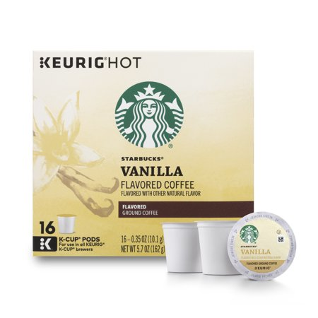 Starbucks Vanilla Flavored Blonde Roast Single Cup Coffee for Keurig Brewers, 1 Box of 16 (16 Total K-Cup - Eggnog Flavored Coffee