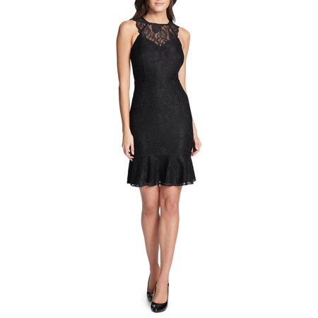 Kensie Highneck Lace Mini Dress