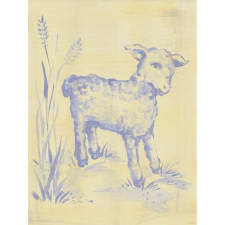 Heather Lambs (Oopsy Daisy - Toile Lamb Canvas Wall Art 18x24, Heather)