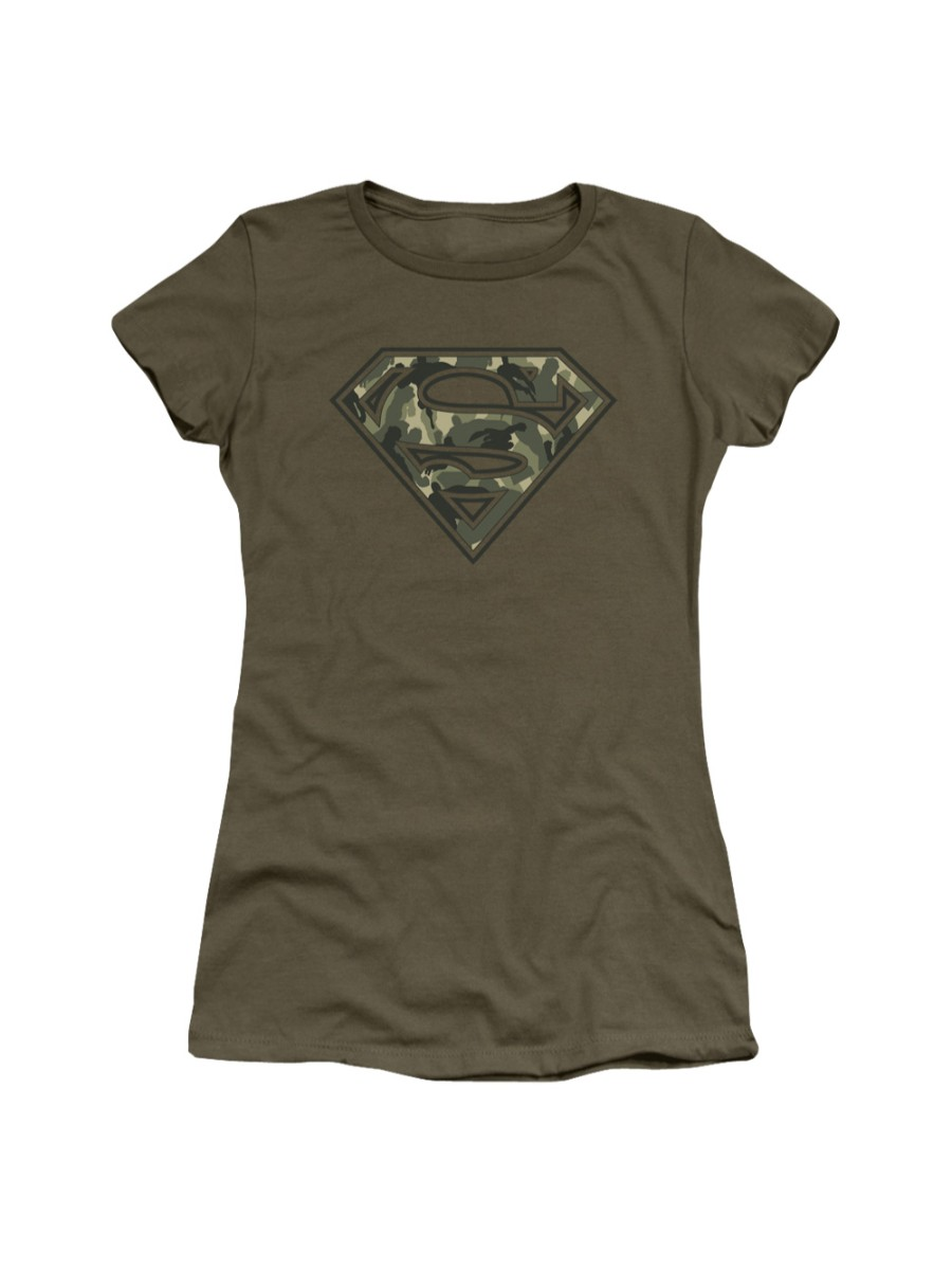 Superman DC Comics Super Camo Juniors Sheer T-Shirt Tee