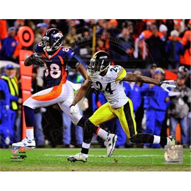 Photofile PFSAAOK14501 Demaryius Thomas Game Winning Touchdown 2011 AFC Wild Card Playoff Action Poster by Unknown -8. 00